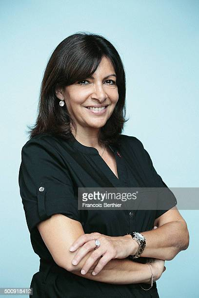 Politician Anne Hidalgo is photographed for Self Assignment on July 15 2015 in Paris France