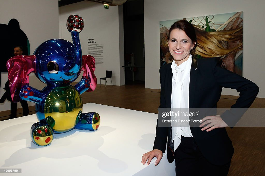 Politician Aurelie Filippetti attends the 'Jeff Koons' Retrospective Exhibition : Opening Evening at Beaubourg on November 24, 2014 in Paris, France.