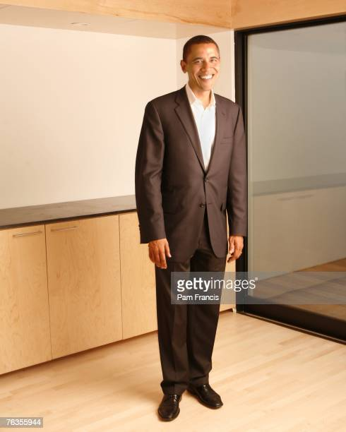 Politician Barack Obama poses for portraits at a campaign fundraiser on June 24 2007 in Houston Texas