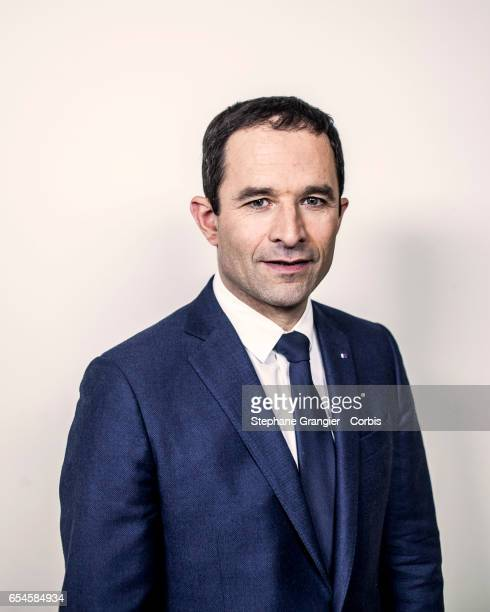 Politician Benoit Hamon poses during a photoshoot on March 05 2017 in Paris France