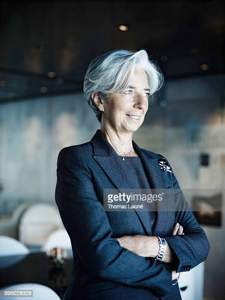 Politician Christine Lagarde is photographed for Self Assignment on June 10 2010 in Paris France