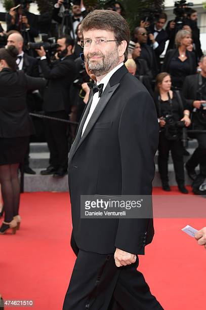Politician Dario Franceschini attends the closing ceremony and 'Le Glace Et Le Ciel' Premiere during the 68th annual Cannes Film Festival on May 24...