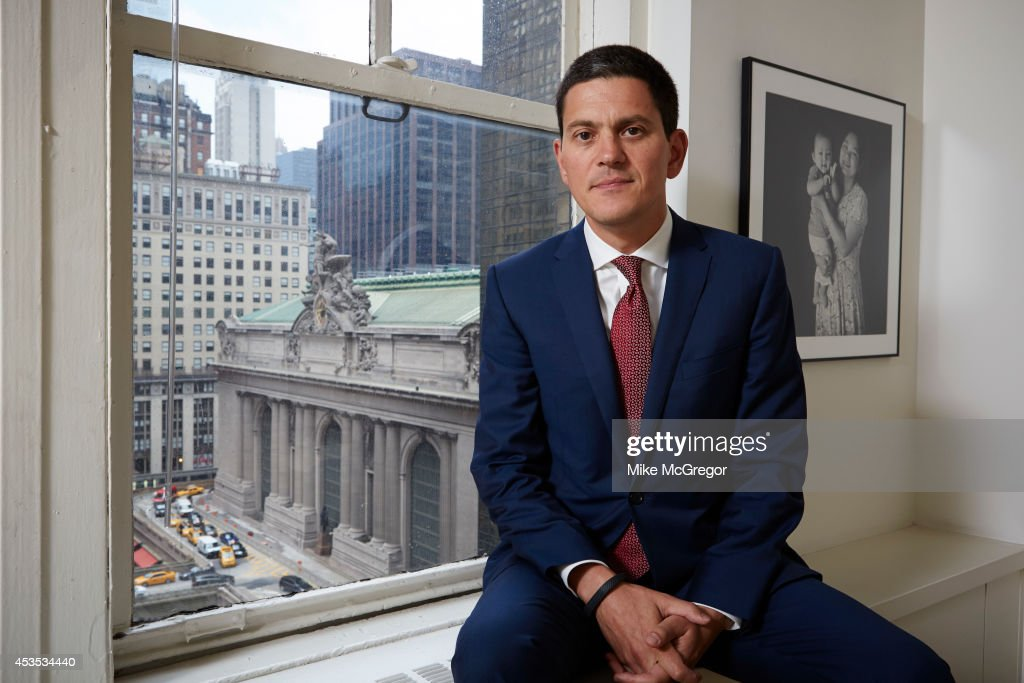 Politician David Miliband is photographed for The Observer Newspaper on August 6, 2014 in New York City. PUBLISHED
