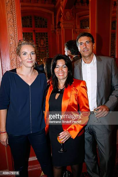 Politician Delphine Batho politician Samia Gahli and her husband Franck Dumontel attend the 150th Representation of the 'Je prefere qu'on reste amis'...