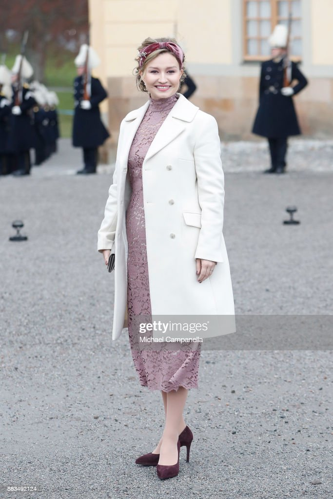 Politician Ebba Busch Thor attends the christening of Prince Gabriel of Sweden at Drottningholm Palace Chapel on December 1, 2017 in Stockholm, Sweden.