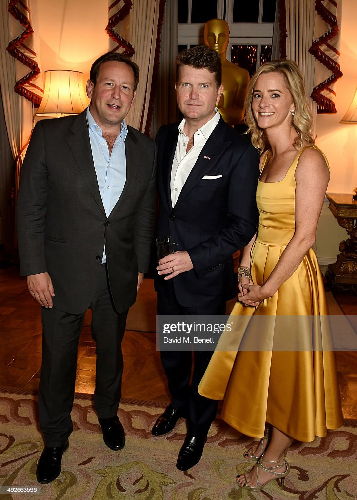 Politician Ed Vaisey, Ambassador Matthew Barzun and Mrs Brooke Barzun attend The Academy Of Motion Pictures Arts & Sciences new members reception hosted by Ambassador Matthew Barzun and Mrs Brooke Barzun at the American Ambassadors Residence, Winfield House, Regents Park on October 14, 2015 in London, England.