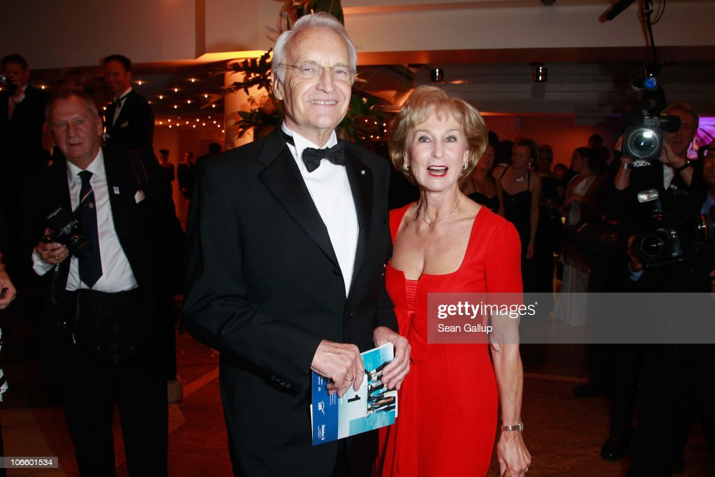 Politician Edmund Stoiber and his wife Karin Stoiber attend the Sportpresseball 2010 at Alte Oper on November 6, 2010 in Frankfurt am Main, Germany.