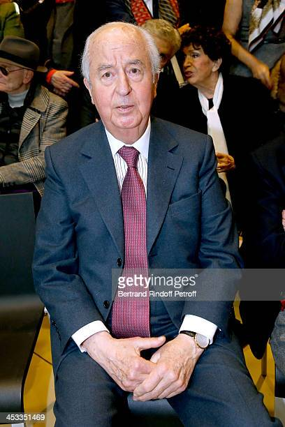 Politician Edouard Balladur attend the Tribute to Alfred Pacquement Director of the Centre Pompidou Museum of Modern Art at Centre Pompidou on...