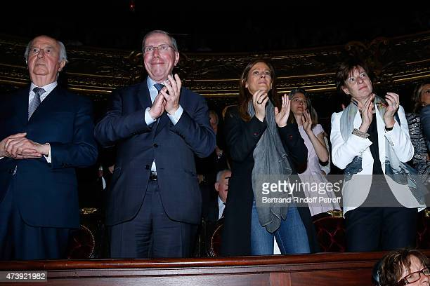 Politician Edouard Balladur President of Opera de Paris Bernard Stirn Violonist Anne Gravoin and Patricia Barbizet attend Star Dancer Aurelie Dupont...