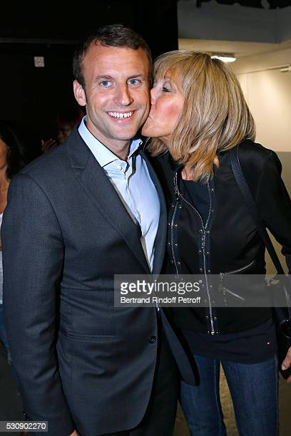 Politician Emmanuel Macron and his wife Brigitte attend Michel Polnareff performs at AccorHotels Arena Bercy Day 4 on May 11 2016 in Paris