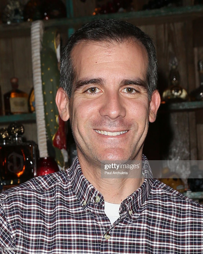 Politician <a gi-track='captionPersonalityLinkClicked' href=/galleries/search?phrase=Eric+Garcetti&family=editorial&specificpeople=635706 ng-click='$event.stopPropagation()'>Eric Garcetti</a> attends PATH's 4th Annual Thanksgiving Meal at Pink Taco on November 22, 2012 in Los Angeles, California.