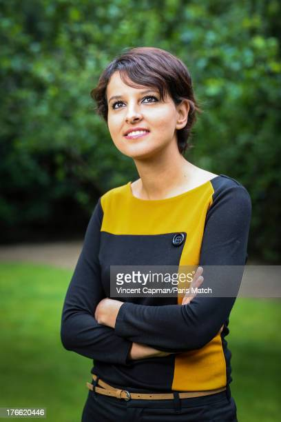 Politician for the french Socialist party and Minister of Woman's rights Najat VallaudBelkacem is photographed for Paris Match on June 28 2013 in...