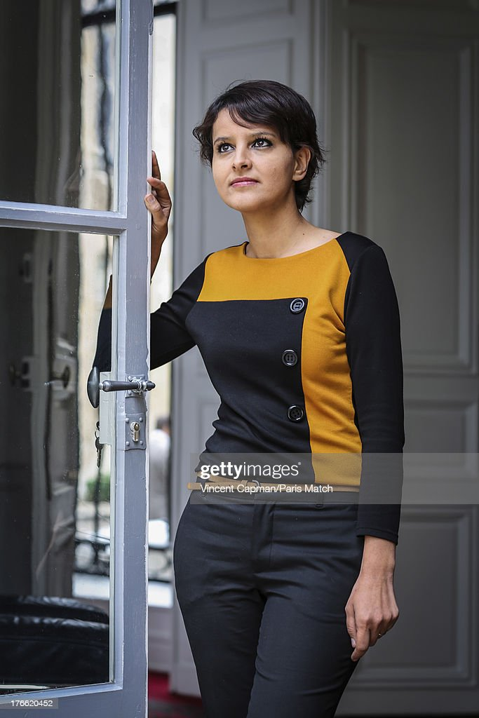 Politician for the french Socialist party and Minister of Woman's rights, Najat Vallaud-Belkacem is photographed for Paris Match on June 28, 2013 in Paris, France.