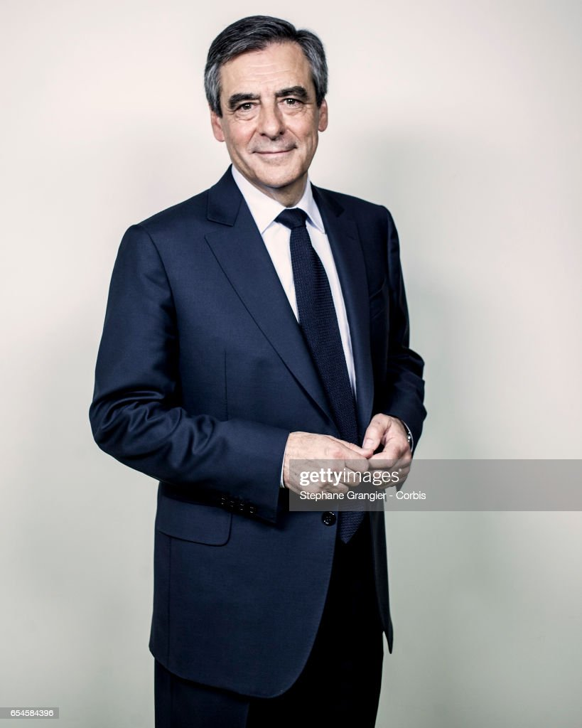French Presidential Candidate Francois Fillon : Photo Session In Paris