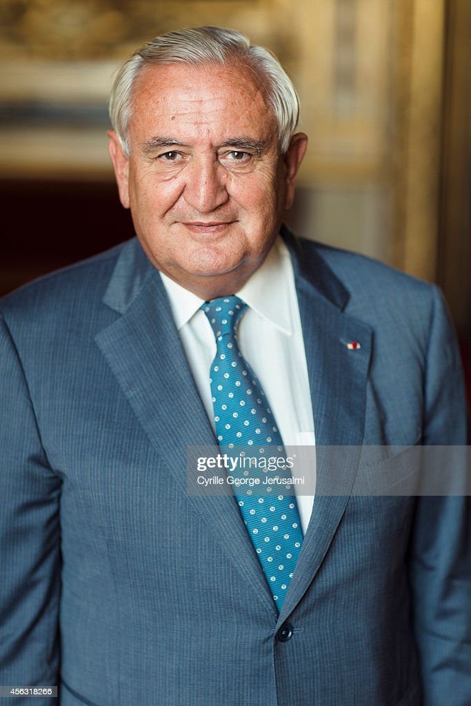 Politician Jean Pierre Raffarin is photographed for Self Assignment on September 2, 2014 in Paris, France.