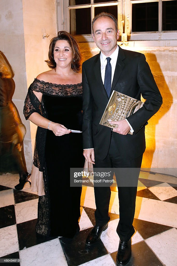 Politician Jean-Francois cope (R) and his sister Isabelle Cope attend Pasteur-Weizmann Gala at Chateau de Versailles on November 18, 2013 in Versailles, France.