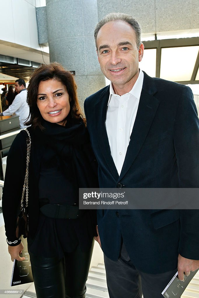 Politician Jean-Francois Cope, President of the UMP party, and his wife Nadia attend the 'Reves d'Enfants' Arop charity event at Opera Bastille on December 15, 2013 in Paris, France.