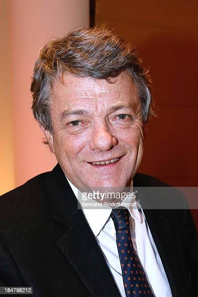 Politician JeanLouis Borloo attend the JeanPaul Moureau book signing for 'Soigner Autrement' at Hotel Park Hyatt Paris Vendome on October 16 2013 in...