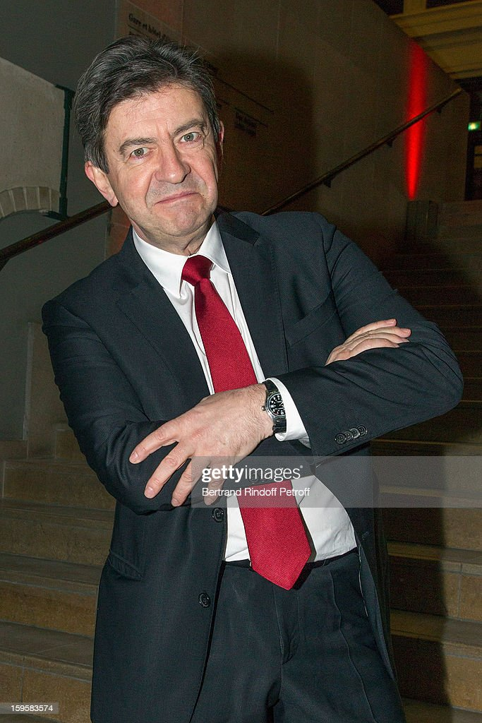 Politician <a gi-track='captionPersonalityLinkClicked' href=/galleries/search?phrase=Jean-Luc+Melenchon&family=editorial&specificpeople=635097 ng-click='$event.stopPropagation()'>Jean-Luc Melenchon</a> attends the GQ Men of the year awards 2012 at Musee d'Orsay on January 16, 2013 in Paris, France.