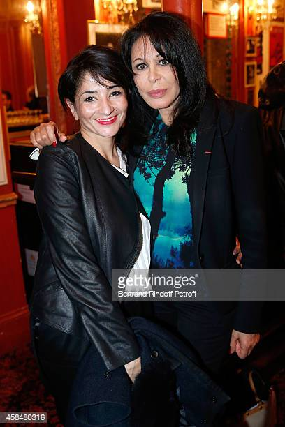 Politician Jeannette Bougrab and Yamina Benguigui attend the 150th Representation of the 'Je prefere qu'on reste amis' Theater Play at Theatre...