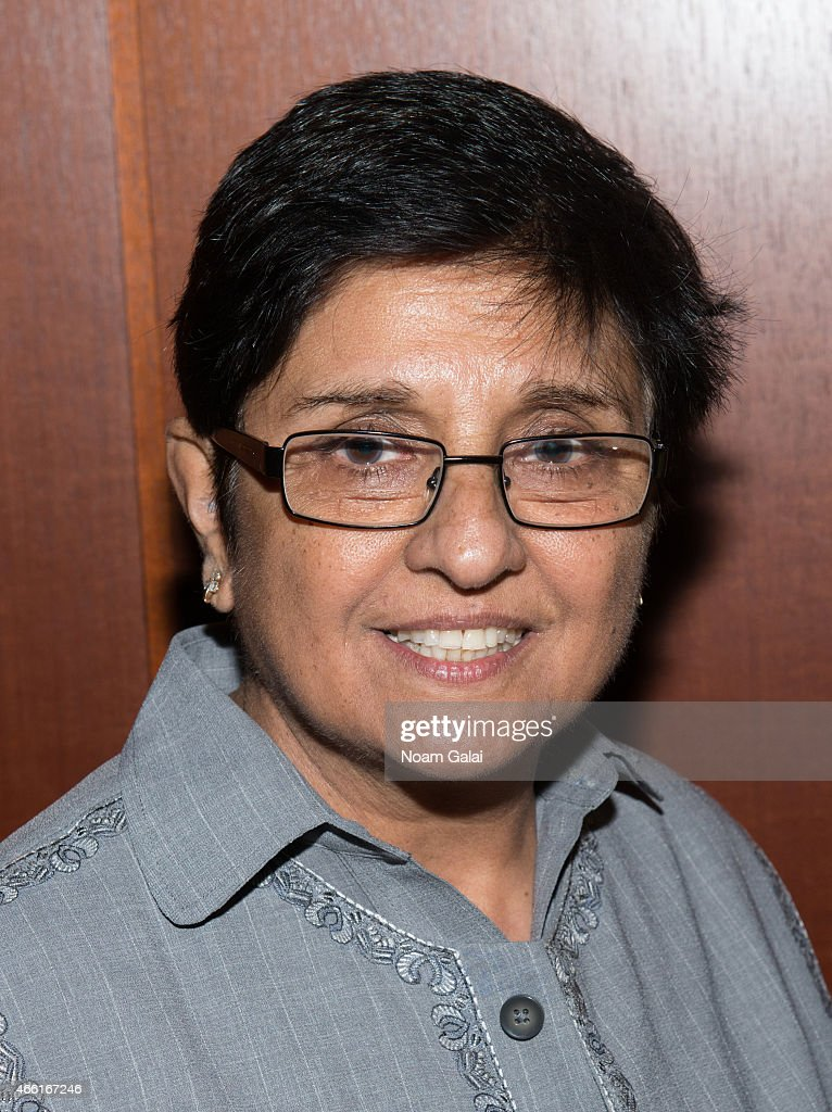 Politician <a gi-track='captionPersonalityLinkClicked' href=/galleries/search?phrase=Kiran+Bedi&family=editorial&specificpeople=2886102 ng-click='$event.stopPropagation()'>Kiran Bedi</a> attends Barnard College's 7th Annual Global Symposium at Barnard College on March 13, 2015 in New York City.