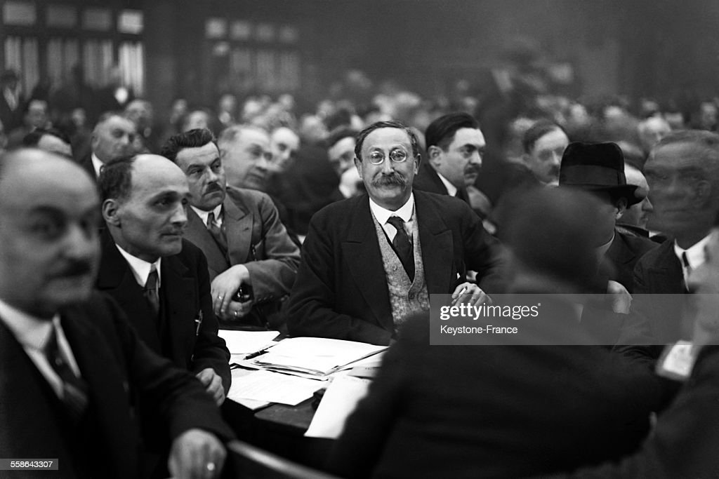 Politician Leon Blum during working session, in March 1930 in France.