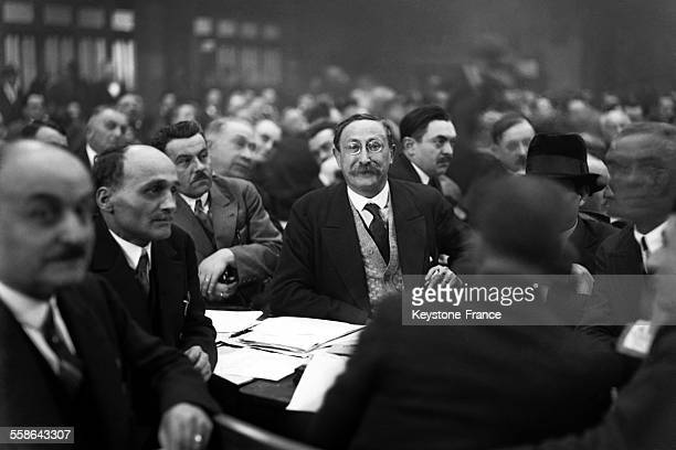 Politician Leon Blum during working session in March 1930 in France