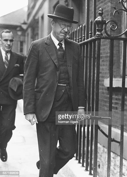 Politician Lord Salisbury arriving at 10 Downing Street for a Cabinet Meeting London August 25th 1953