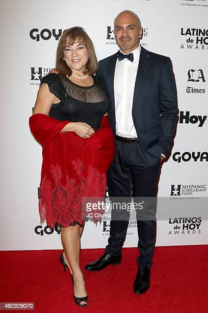 Politician Loretta Sanchez and actor Rafael Agustin attend the The Los Angeles Times and Hoy 2015 Latinos de Hoy Awards at Dolby Theatre on October...