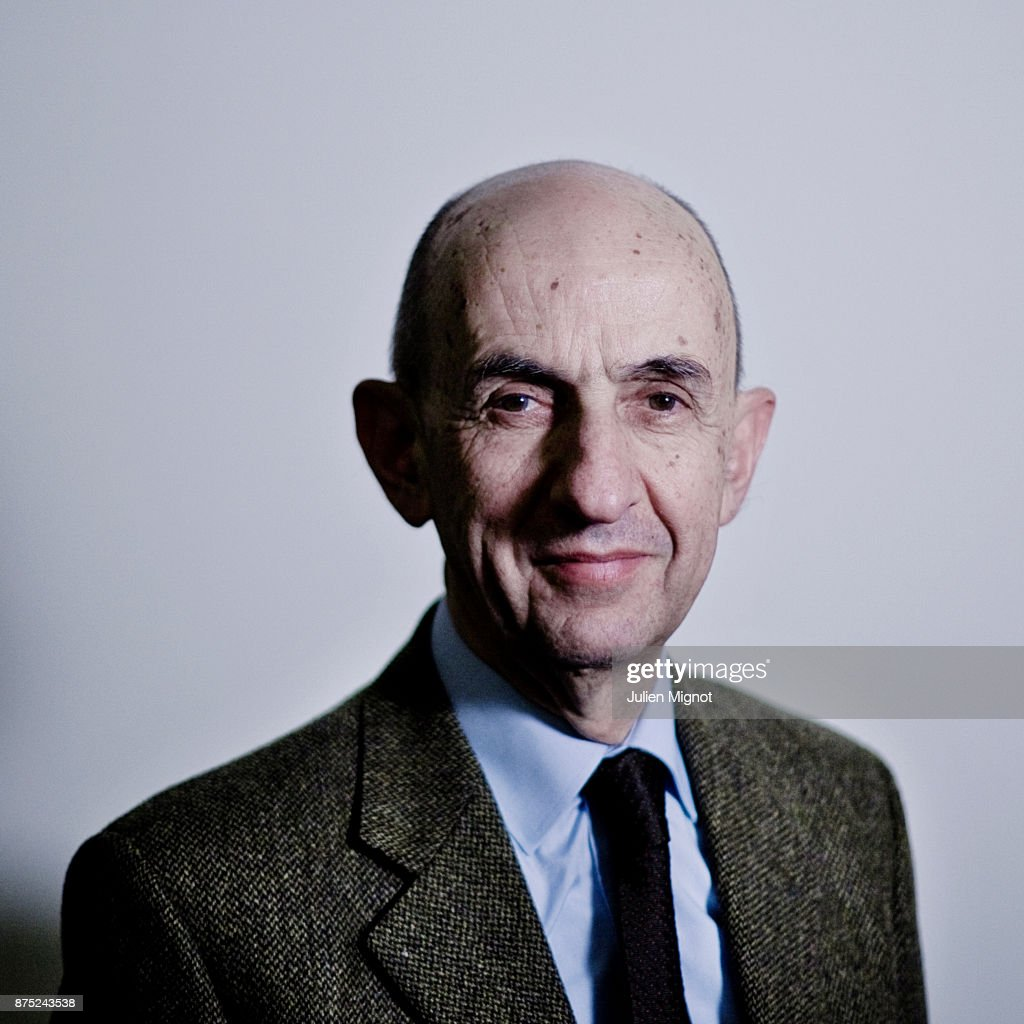 Politician Louis Gallois is photographed for Le Monde on February, 2013 in Paris, France.