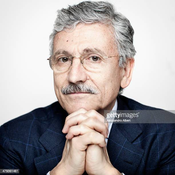Politician Massimo D'Alema is photographed for Self Assignment on March 6 2014 in Turin Italy
