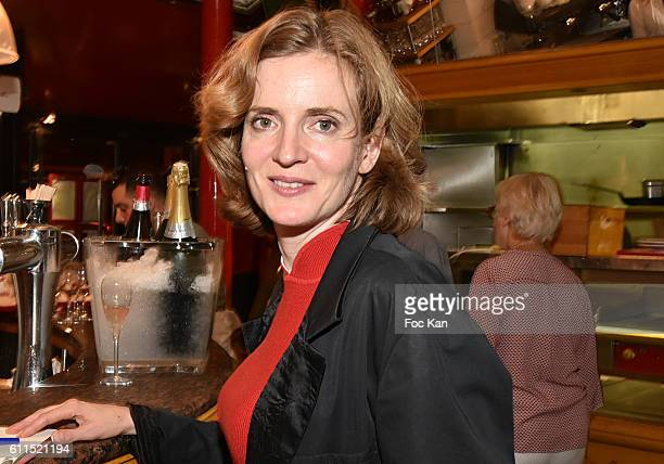 Politician Nathalie Kosciusko Morizet attends 'Boeuf A La Mode' Dinner Hosted by Artisans Bouchers de Paris et Iles de France at Louchebem Restaurant...