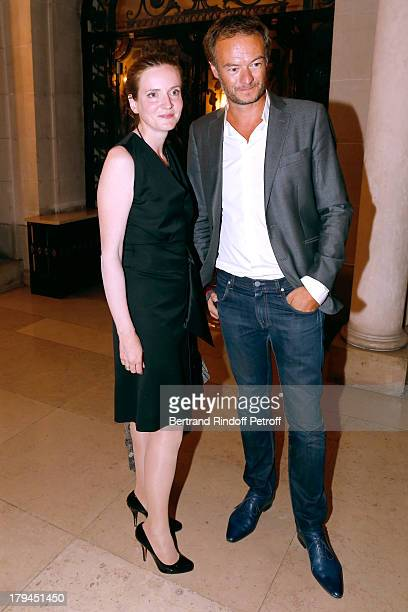 Politician Nathalie KosciuskoMorizet and her assistant David Herve Boutin attend Lui Magazine Launch Party held at Foch Avenue in Paris at on...