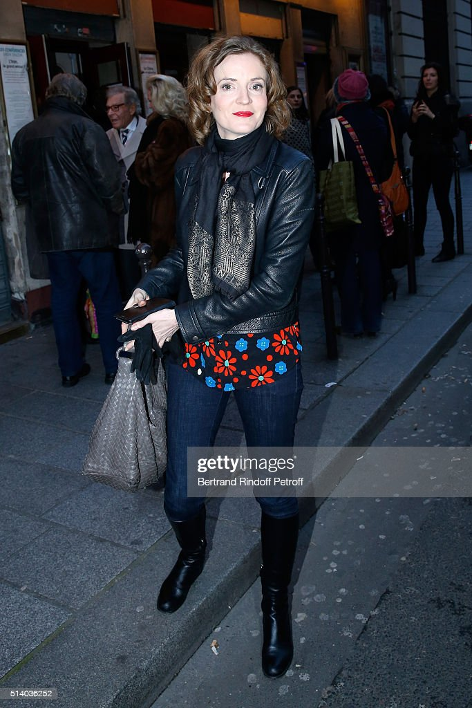 Politician Nathalie Kosciusko-Morizet attend the 'Garde Alternee' : Theater Play at Theatre des Mathurins on March 6, 2016 in Paris, France.