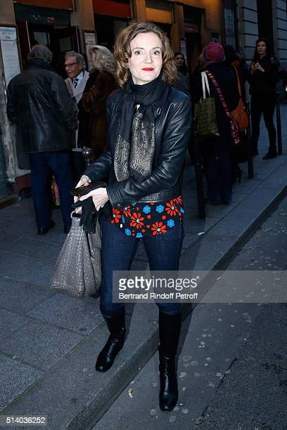 Politician Nathalie KosciuskoMorizet attend the 'Garde Alternee' Theater Play at Theatre des Mathurins on March 6 2016 in Paris France