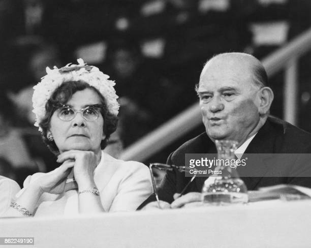 Politician Peggy Herbison and Sam Watson during the opening session of the 61st Labour Party Conference in Brighton UK 1st October 1962