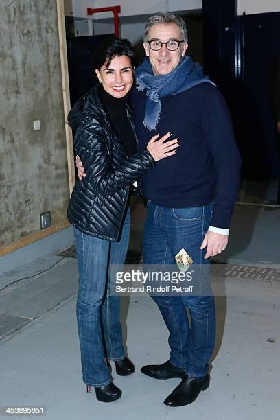 Politician Rachida Dati and Guest attending Celine Dion's Concert at Palais Omnisports de Bercy on December 5 2013 in Paris France
