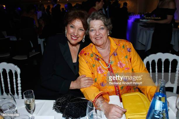 Politician Roselyne Bachelot Narquin and Princess Chantal de France attend the 25th 'Gala de l'Espoir' at Theatre des ChampsElysees on October 17...
