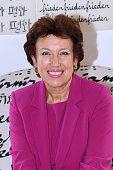 Politician Roselyne Bachelot Narquin attends Marek Halter's Rosh Hashanah celebration for the 5774 Jewish new year at his home on September 8 2013 in...