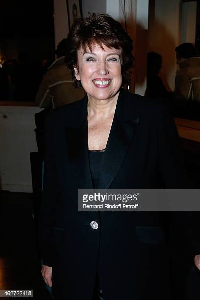 Politician Roselyne BachelotNarquin attends the Private Screening of the Movie 'Tout Peut Arriver' at Mac Mahon Cinema on February 3 2015 in Paris...