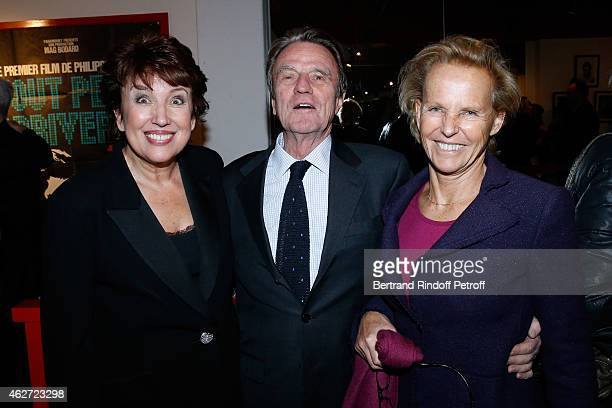 Politician Roselyne BachelotNarquin Bernard Kouchner and his wife Christine Ockrent attend the Private Screening of the Movie 'Tout Peut Arriver' at...