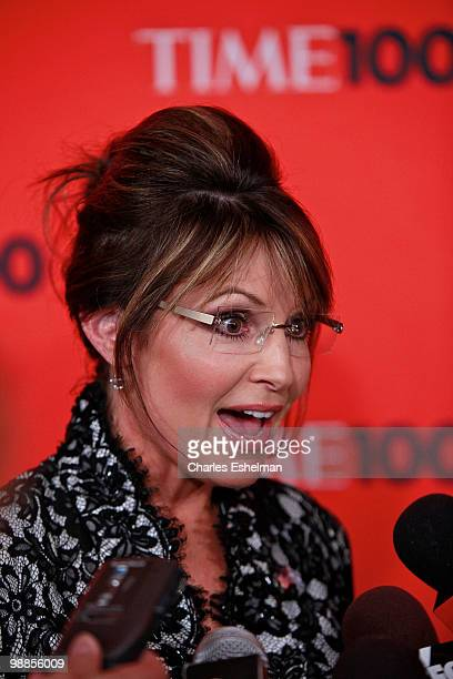 Politician Sarah Palin attends the 2010 TIME 100 Gala at the Time Warner Center on May 4 2010 in New York City