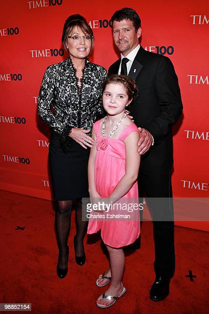 Politician Sarah Palin daughter Piper Palin and husband Todd Palin attend the 2010 TIME 100 Gala at the Time Warner Center on May 4 2010 in New York...
