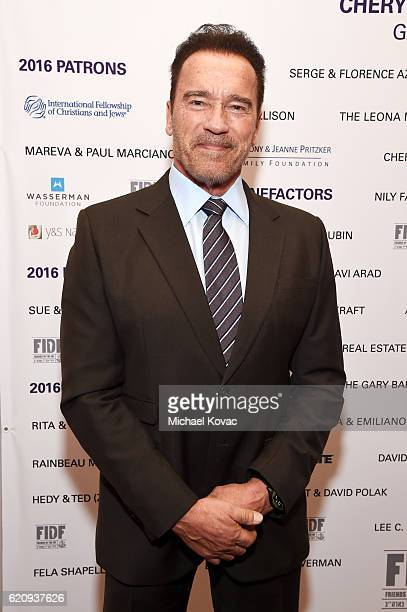 Politician/actor Arnold Schwarzenegger attends Friends Of The Israel Defense Forces Western Region Gala at The Beverly Hilton Hotel on November 3...