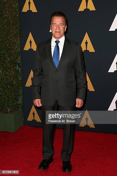 Politician/actor Arnold Schwarzenegger attends the Academy of Motion Picture Arts and Sciences' 8th annual Governors Awards at The Ray Dolby Ballroom...
