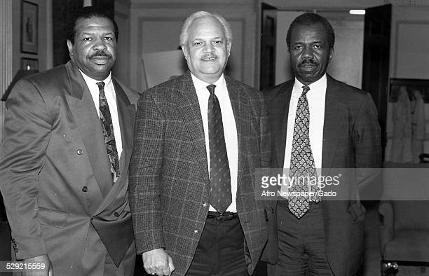 Politicians and politician and Maryland congressional representative Elijah Cummings Maryland Original Caption Reads 'Politician Maryland State Group...