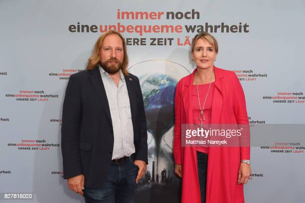 Politicians Anton Hofreiter and Simone Peter attend a special screening of 'An Inconvenient Sequel Truth to Power' at Zoo Palast on August 8 2017 in...