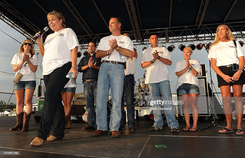 Politicians attend a VIP welcome prior to the 2010 BamaJam Music & Arts Festival at the Corner of Hwy 167 and County Road 156 on June 2, 2010 in Enterprise, Alabama.