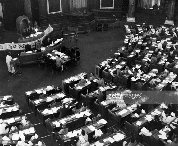 9th December 1946 A general view of the Indian Constituent Assembly Meeting which 205 members attended but which Moslems boycotted