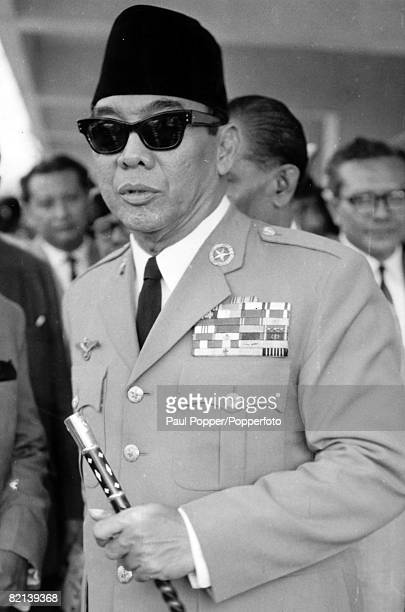 August 1961 President Ahmed Sukarno pictured the day before the Independence celebrations